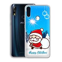 Ốp lưng dẻo cho điện thoại Zenfone Max Pro M2 - 01219 7939 SANTA02 - Noel - Merry Christmas - Hàng Chính Hãng
