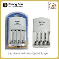 Sạc pin AA/AAA MQN06 Sanyo (sạc nhanh ) - Hàng Chính Hãng