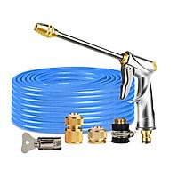 Bộ dây vòi xịt nước rửa xe, tưới cây , tăng áp 3 lần, loại 20m 206701-2 đầu đồng,cút đồng+  đai