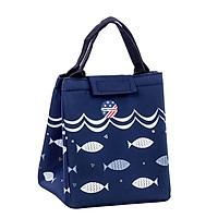 Túi giữ nhiệt đựng hộp cơm họa tiết cá