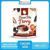 Bột Cacao sữa Terry , thơm ngon , đậm đà , hợp gu người sành cacao , đặc biệt không hương liệu , mùi vị tự nhiên , an toàn sức khỏe , Gói 50G