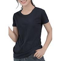 Áo Thun Nữ Trơn Màu Đen T&D (Free Size)