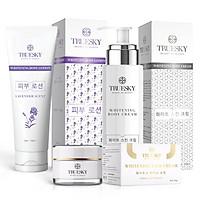 Bộ sản phẩm SILVER dưỡng trắng da mặt & body hương nước hoa Pháp - Mỹ phẩm Truesky