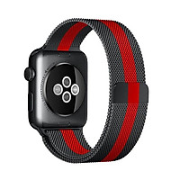 Dây thép đeo thay thế cho Apple Watch 42mm / 44mm hiệu Coteetci kiểu dáng Redline (thiết kế tinh tế mới lạ, thép không gỉ cao cấp, ôm sát tay) - Hàng nhập khẩu