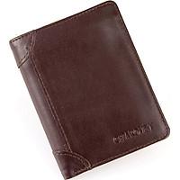 Bóp ví nam da bò Chakovet kiểu ví dáng đứng CKV268 nhiều ngăn đựng tiền và thẻ tiện lợi