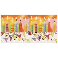 Combo 2 Xấp Khăn Giấy Ăn Trang Trí Bàn Tiệc Tissue Napkins Design Ti-Flair 371786 (33 x 33 cm) - 40 tờ