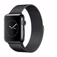 Dây đeo dành cho Apple Watch Milanese Loop màu đen series 1.2.3.4
