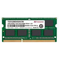 RAM Laptop Transcend 4GB DDR3 1333MHz SODIMM - Hàng Chính Hãng