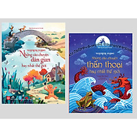 Sách - Combo 2 cuốn Illustrated Classics - Những câu chuyện dân gian hay nhất thế giới + Những câu chuyện thần thoại hay nhất thế giới (Bìa cứng)