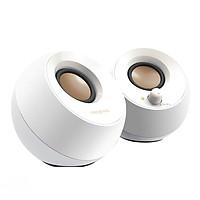 "Creative PEBBLE ""Cobblestone"" Speaker 2.0 Desktop Audio Laptop Speaker Double-sided Vibration Sound Quality Full Small and Powerful White"