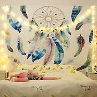 Tranh vải treo tường TV17 - DREAM CATCHER Marytexco décor nhà cửa, phòng ngủ, phòng trọ sinh viên KT 150*130cm TẶNG kèm 4 đinh + 4 kẹp + ĐÈN LED USB 6M