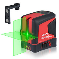 UNI-T 2 Line Laser Level Meter Self-Leveling 2 Green Beams Horizontal/Vertical/Cross Line Laser Level Tool with Magnetic
