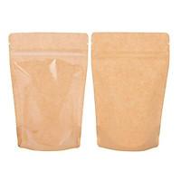 3 Kg túi giấy Kraft zipper mặt giấy mặt trong đáy đứng 15x22cm