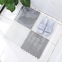 Combo 4 sàn nhựa ghép chống trơn nhà vệ sinh, ban công kích thước 30cm x 30cm