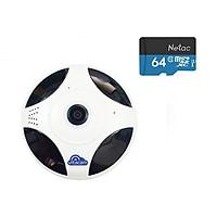 CAMERA QUAY TOÀN CẢNH 360 ĐỘ VITACAM VR1080 FULLHD 1080P + THẺ NHỚ 64GB - HÀNG CHÍNH HÃNG