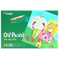 Bút Sáp Dầu 36 Màu Lục Giác Mango BSD36ML-2 - Hình Em Bé + Con Trâu