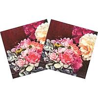 Combo 2 Xấp Khăn Giấy Ăn Trang Trí Bàn Tiệc Tissue Napkins Design Ti-Flair 344028 (33 x 33 cm) - 40 tờ