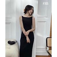 Đầm dây hở lưng Size S,M,L Thun 4D Hàn Quốc