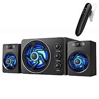 Bộ Loa Vi Tính Để Bàn D-209 (màu ngẫu nhiên) + Tai Nghe Bluetooth Nhét Tai