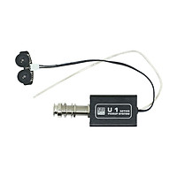 Rechargeable Acoustic Guitar Active Piezo Pickup Pick-up Transducer with Volume and Tone Control for Ukulele - Black
