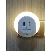 Đèn Ngủ  Cảm Quang , Đèn Led Cảm Biến  Ánh sáng  Hiệu  Dobo  Kèm Ổ Cắm USB - Ánh sáng Trắng