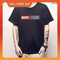 Áo thun in logo Marvel Studios màu đen được yêu thích nhất