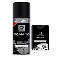 Combo Romano Gentleman: Xịt khử mùi toàn thân 150ml+Nước hoa bỏ túi 18ml