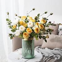 Bình cắm hoa cao cấp cổ viền vàng đồng