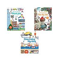 Combo 3 quyển sách tương tác: Tòa lâu đài + Thành phố +  Công trường xây dựng