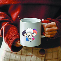 Ly cốc sứ in hình Gintama - Linh Hồn Bạc anime chibi