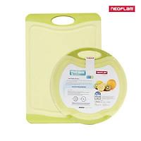 [Hàng chính hãng] Bộ đôi thớt sạch Neoflam Flutto R - M. Thớt được đúc bằng nhựa PP, đảm bảo an toàn vệ sinh thực phẩm