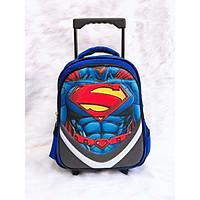 Balo kéo cho bé trai hình siêu nhân size từ lớp 1 đến lớp 3