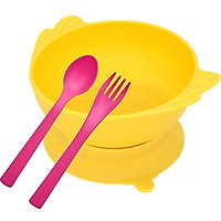 Set bát+ thìa dĩa ăn dặm Uinlui làm từ dừa, set ăn dặm an toàn cho bé