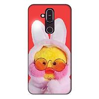 Ốp lưng dành cho điện thoại Nokia 8.1 Vịt Bông Lalafanfan Mẫu 3