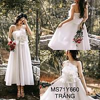 Đầm dự tiệc cúp ngực xếp hoa hồng siêu to TRIPBLE T DRESS -size M/L (kèm ảnh/video thật) MS71Y