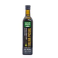 Dầu oliu ép lạnh hữu cơ Naturgreen 500ml - Organic extra virgin olive oil