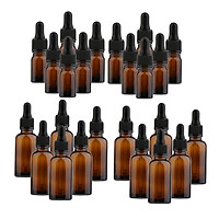 24 Pcs Glass Amber Essential Bottles Oils Dropper Eye Aromatherapy Pipette Vials