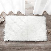 Thảm lông trắng mềm mượt - thảm chụp hình