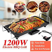 Electric Teppanyaki Table Top Grill Griddle BBQ Barbecue Indoor Garden Camping