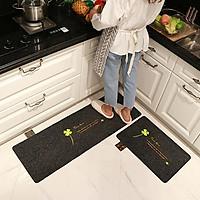 Bộ 2 thảm bếp cao cấp-Đế cao su chống trơn trượt