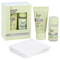 Set tẩy trang khăn nóng nước hoa hồng Superdrug Naturally Radiant mini - 30ml