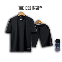 Bộ đồ thể thao nam THE 1992 Bộ quần áo nam cao cấp kẻ sọc