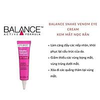 Combo Kem Dưỡng Da Vùng Mắt Balance Snake Venom Eye Cream Anti-Ageing 15ml và Tinh Chất Cấp Nước Balance Active Formula Hyaluronic Deep Moisture Serum 30ml