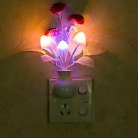 Đèn ngủ  bình hoa siêu đẹp - mẫu hoa ngẫu nhiên ( Tặng kèm 03 móc treo đa năng )