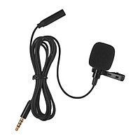 Mini Clip-on Lapel Lavalier Condenser Microphone Mic with 3.5mm Headphone Output Jack for iPhone iPad Android Smartphone