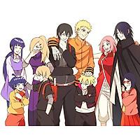 Poster A4 dán tường Anime, decal 21x30 trang trí có keo Boruto Naruto the Movie Wallpapers (4).jpg