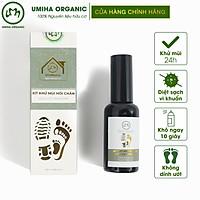 Xịt khử mùi hôi Chân và Giày hữu cơ UMIHOME 50/100ml khử mùi nhanh chóng, giúp ngăn ngừa hôi chân và giày hiệu quả