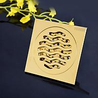 Ga thoát sàn ngăn mùi chống gỉ đồng mạ vàng sáng bóng Hiwin FD-1118G