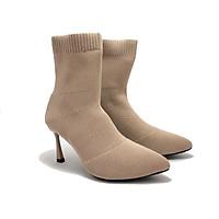 Boots nữ len 7 cm, Boots02