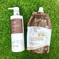 Combo gội ủ Collagen Karseell Maca siêu mượt cho tóc khô hư tổn 500ml